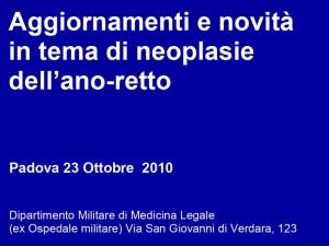 Neoplasie ano-retto