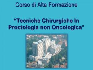 Tecniche Chirurgiche in Proctologia non Oncologica